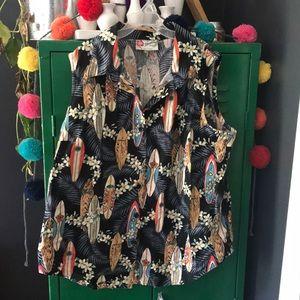 Vintage Hilo Hattie Sleeveless Hawaiian Shirt